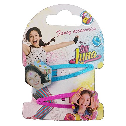 Cartoon Set de 2 Pinzas ranitas para el Pelo Soy Luna Disney WDSL029TURCHESE