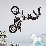 Motocross Creativo Etiqueta de la Pared decoración de la Pared para los niños habitación Accesorios de decoración de la habitación de Vinilo Tatuajes de Pared Pegatinas MuralXL 58 cm X 69 cm