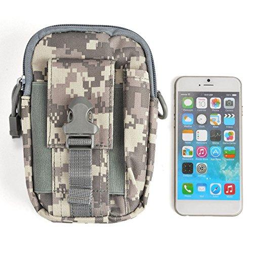 Faleto klein Outdoor Reisen Sport Taktische Tasche Hüfttasche Bauchtasche Gürteltasche für Camping Wandern Radfahren Klettern und Reisen CP Camouflage