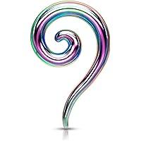 Beyoutifulthings - Dilatatore a spirale in acciaio inox, in diversi colori, 2-8 mm