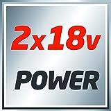 Einhell Akku Vertikutierer-Lüfter GE-SC 35/1 Li Solo Power X-Change (Lithium Ionen, 2 x 18 V, Arbeitsbreite 350 mm, Raddurchmesser vorne/hinten 175/152 mm, ohne Akku und Ladegerät) -