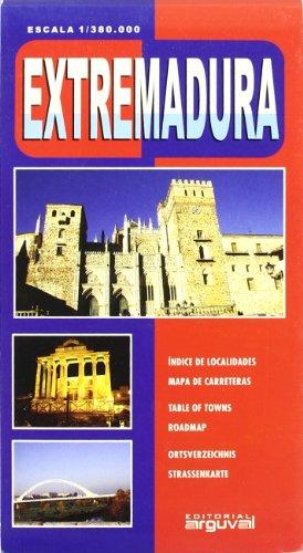 Mapa de Extremadura (MAPAS DE CARRETERAS) por Arguval