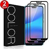 G-Color Verre Trempé Huawei P20 Lite [2 Pièces], Protection Écran [2.5D Couverture Maximale][Haute Réponse, Haute Transparence] Film Protection pour Huawei P20 Lite
