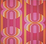 Livingwalls Retro Vision Mustertapete / Papiertapete, Retro-Design, orange, violett, magenta, mehrfarbig, 703927