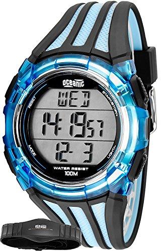 oceanic - unisex sports watch, heart rate monitor + chest belt, wr100m, ohr311/2