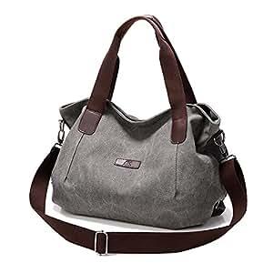 Borsa Cotone Tela Tote Borsetta a Tracolla Shopping Bag Vintage casual Shopper Borse per Donne Signore Borse a Mano Grande