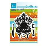 Marianne Design Craftables Stanzform Kuckucksuhr-Cutting Die, Steel, grau, 16.5 x 11 x 0.4 cm