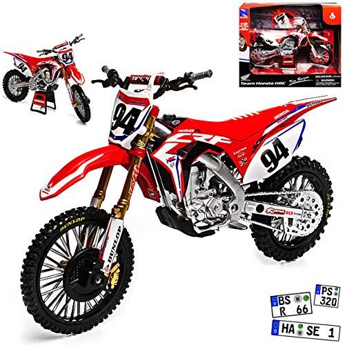 alles-meine.de GmbH Honda CRF450 HRC Ken Roczen Nr 94 Supercross-WM Enduro 1/12 New Ray Modell Motorrad
