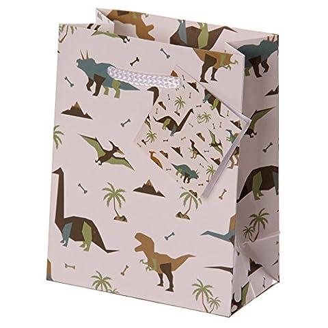 Fun Dinosaure Impression Petite brillant Sac cadeau