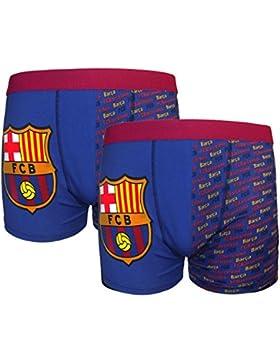 FC Barcelona - Pack de 2 calzoncillos oficiales de estilo bóxer - Para niños - Con el escudo del club