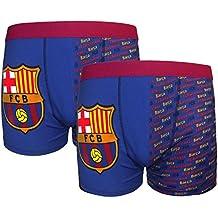 FC Barcelona - Pack de 2 calzoncillos oficiales de estilo bóxer - Para niños  - Con f7cc048f126