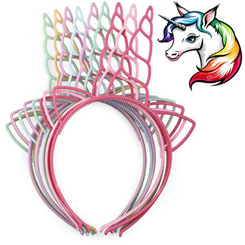 UWIME Pack 12 tiras plástico unicornio
