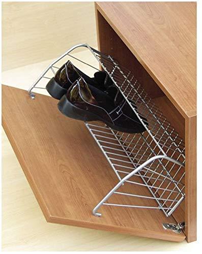 Gedotec Schuhgarderobe Metall Schuhablage-Korb mit Anschraubösen | Breite: 757 mm | Stahl silber RAL 9006 | 1 Stück zum Schrauben