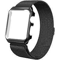 Watch Armband , ANGGO Uhrenarmband iwatch Strap Magnet Milanese Loop Ersatz Armbanduhr Gürtel mit Uhr Schutzhülle und Magnetverschluss Schließe für Apple Watch Serie 3 Serie 2 Serie 1