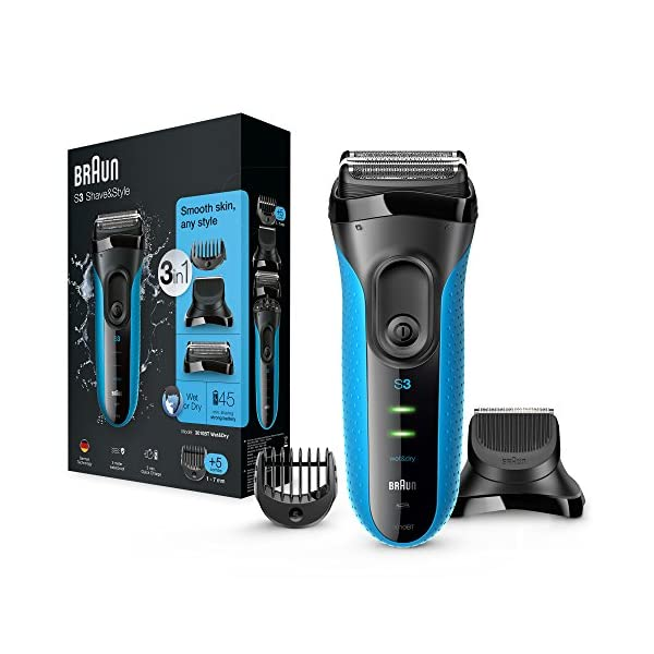 Braun 3010BT Series 3 Shave And Style 3 In 1 Electric Wet And Dry Shaver