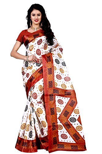 Trendz Raw Silk Multi Color Saree Without Blouse(TZ_65)  available at amazon for Rs.199
