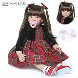 ZIYIUI Bambole Reborn 24'' 60 cm Realistico Baby Dolls Bambino Morbido Silicone Vinile Neonatale Simulazione Magnetica Bocca Toddler Babies Bambola Regalo Giocattoli