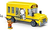 Banbao 7506 Snoopy School Bus, Yellow