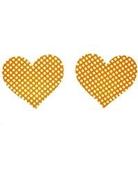 10 pares de mujeres atractivas en forma de corazón de pastillas Nippy capa de la ropa interior en el sujetador