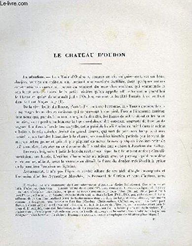 BULLETIN MONUMENTAL 113e VOLUME DE LA COLLECTION N2 - LE CHATEAU D'OUDON PAR ROGER GRAND