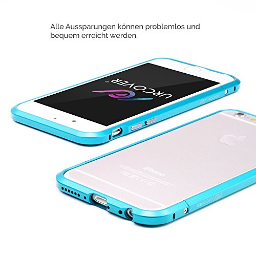 iPhone 6 / 6s Case, Urcover® [Aluminium Bumper] Apple iPhone 6 / 6s [Rot][Schraubenverschluss] [Extra Slim Fit] Rahmen Alu Metal Schutz Hülle Case Cover Blau