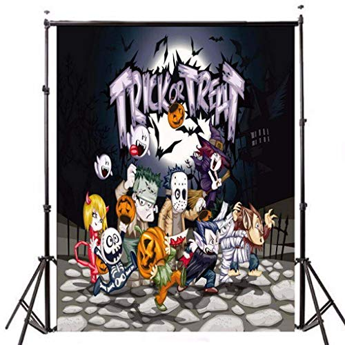 (Yongse Vinyl Halloween Night Treat oder Trick Pumpkin Ghost Photography Backdrop)