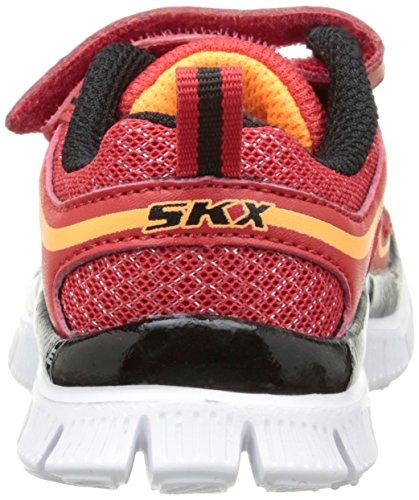 Skechers Flex Advantage Mini Rush Jungen Laufschuhe Red (Red Black)