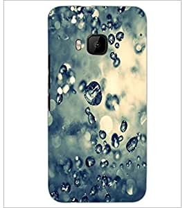 PrintDhaba Droplets D-2215 Back Case Cover for HTC ONE M9S (Multi-Coloured)