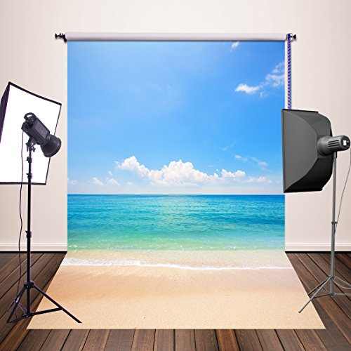 HuaYi Fotografie Hintergrund 150x 220cm Vintage Kulissen Professional Photo Hintergrund Fotograf Studio Requisiten Sea Beach Theme