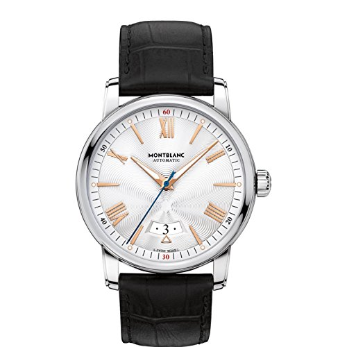As an elegant tribute to the height of fast and luxurious travels across the Atlantic Ocean in the early 20th century, this timepiece of the Montblanc 4810 collection expresses a pure and sophisticated character. Exhibiting the classic simplicity of ...