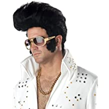 Deluxe Rock N Roll Elvis Wig Mens Fancy Dress 1950s Celebrity Costume Accessory (disfraz