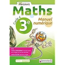 Manuel numerique iparcours maths cycle 4 vol. 3e (DVD enseignant monoposte)