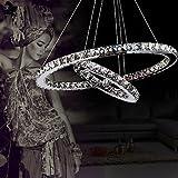 ALFRED Cristallo di lusso moderno ha condotto il pendente con uniche due anelli,Modern Home soffitto lampade, luce del pendente Lampadari Illuminazione