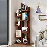 Duo Bücherregal 8-Shelf Kids Bücherregal mit Aufbewahrung, Modern Solid Wood Bücherregal Shaped Rack Organizer in 9 Farben Hängeregal, (Farbe : Teak Color)