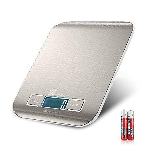Houzetek Báscula Digital Cocina, Balanza Cocina con Gran Pantalla LCD, Balanza de Alimentos Multifuncional, Peso de Cocina 1g(0,1 oz)-5kg