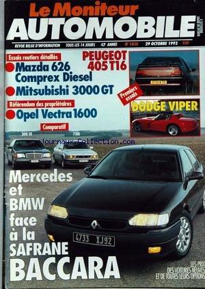 moniteur-automobile-le-no-1015-du-29-10-1992-peugeot-405-t16-mazda-626-comprex-diesel-mitsubishi-300