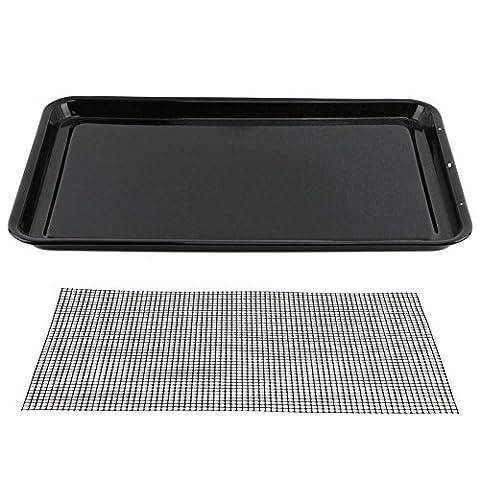 spares2go groß gläserne Emaille Ofen Backblech & Mesh Grill Food