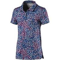 Puma Mädchen 576195Floral Shirt, Large, Carmine Rose Polo