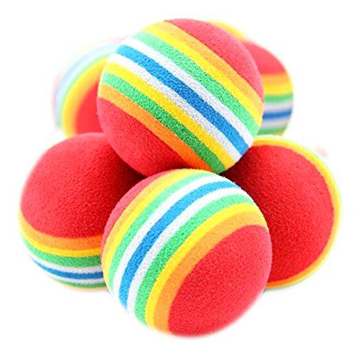 Helles Zubehör Kostüm Regenbogen - Wilk Golf Training Regenbogenbälle für Sport Übung Golf Zubehör 10 Stück Regenbogenfarben