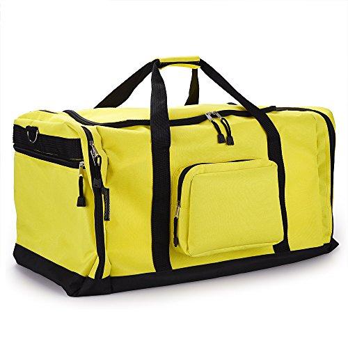 Sporttasche - 70 cm - 95 Liter Stauraum - Reistetasche Reisekoffer Koffer Tasche schwarz Gelb