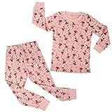 Kidear Pijamas Lindos para niñas Conjunto para niños Ropa de Dormir de Manga Larga de algodón Pjs...
