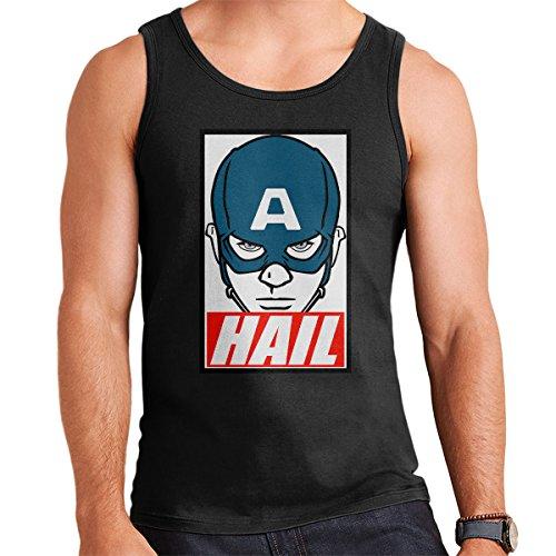Captain America Hail Obey Men's Vest Black