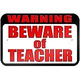 """graphique et plus """"Warning Beware of Teacher"""" 22.9x 15.2cm plaque en métal Tableau"""