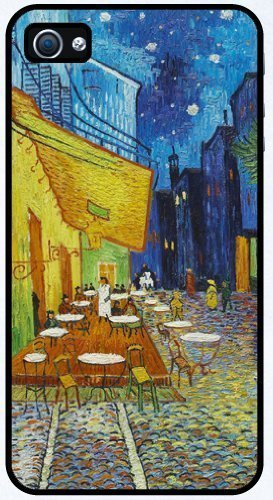 midnight-in-rodarte-by-vincent-van-gogh-rubber-iphone-4-or-4s-cover-cell-phone-case-free-wristband-a