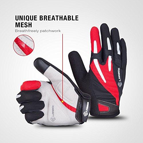 4ucycling Touchscreen Fahrradhandschuhe mit Gel Padded Super Atmungsaktiv Radsport Handschuhe XL - 7