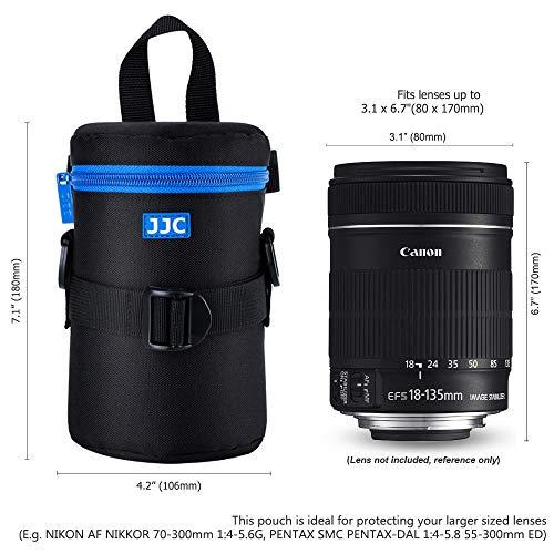 PROfoto.Trend/JJC DLP-3II Deluxe Objektiv Tasche mit Umhängeband, Wasserabweisend, Schwarz, passt Objektiv Durchmesser und Höhe unter 80 x 170mm [Siehe Beschreibung für die Kompatibilität] -