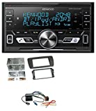 Kenwood DPX-M3100BT 2DIN AUX MP3 Bluetooth USB Autoradio für Seat Ibiza (ab 08) tuam-grey