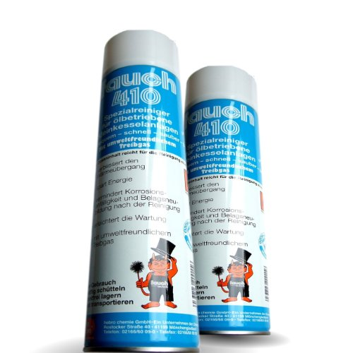2 x Fauch 410 Spezialreiniger für Ölbrenner und Ölkessel, 600ml Spraydose