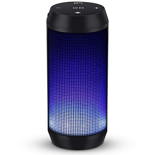 ELEHOT Altavoz Bluetooth Portatil con Luz de 5 Modos Recargable USB Altavoces Bluetooth con Radio FM Inalambricos Potentes apoya TF Card/Memoria USB de 32G Altavoz Portatil Estereo (Batería 1800mAh)