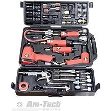 Digitech R9L - Juego de herramientas neumáticas (77 piezas, llave de impacto, carraca, lijadora, etc.)